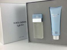 + VAT Brand New Dolce & Gabbana Light Blue 25ml EDT Spray + Body Cream