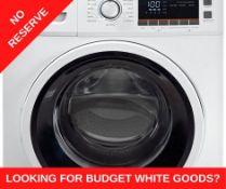 + VAT Grade A/B Bush WMNBX914W 9Kg 1400 Spin Washing Machine - 15 Programmes - 15 Minute Quick Wash