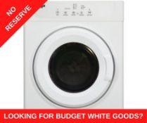 + VAT Grade A/B Bush TDV7NBW 7KG Vented Tumble Dryer -3 Heat Settings & 10 Drying Programmes -