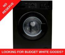 + VAT Grade A/B Bush WMNB912EB 9Kg 1200 Spin Washing Machine - 15 Minute Quick Wash - 15 Programmes