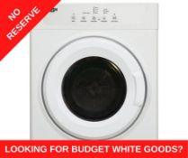 + VAT Grade A/B Bush TDV7NBW 7Kg Vented Tumble Dryer - 10 Drying Programmes - Quiet Mark Stamp of