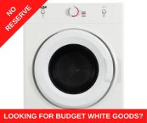 + VAT Grade A/B Bush DHB7VTDW 7kg Vented Tumble - Enough Room For Up To 35 Adult Sized T Shirts -