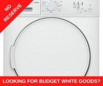 + VAT Grade A/B Bush TD7CNBCW 7Kg Condenser Tumble Dryer - 15 Programmes - 12 Minute Quick Dry -