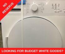+ VAT Grade A/B Bush TD7CNBCW 7Kg Condenser Tumble Dryer - 15 Drying Programmes - Quiet Mark Stamp
