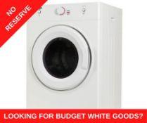 + VAT Grade A/B Bush DHB7VTDW 7Kg Vented Tumble Dryer - Capacity For Up To 35 T Shirts Making It
