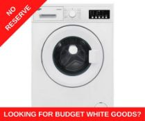 + VAT Grade A/B Bush WMNB812EW 8Kg 1200 Spin Washing Machine - 15 Minute Quick Wash - 15 Prgorammes