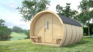 + VAT Brand New 9.5M sq Ice-Viking Barrel- Two Rooms (2x2.3m Sleeping Room and Entrance room with