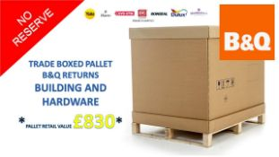 + VAT Grade U Trade Pallet Quantites Of B & Q Returns - Building And Hardware - Retail Value £
