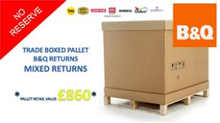 + VAT Grade U Trade Pallet Quantites Of B & Q Returns - Mixed - Retail Value £860 ***No Reserve**