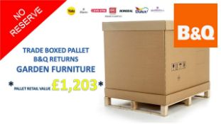 + VAT Grade U Trade Pallet Quantites Of B & Q Returns - Garden Furniture - Retail Value £1203 ***No