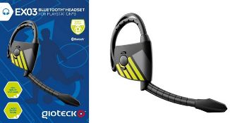 + VAT Brand New Gioteck EX03 Bluetooth Gaming Headset For Playsation 3 - Limited Edition Design -
