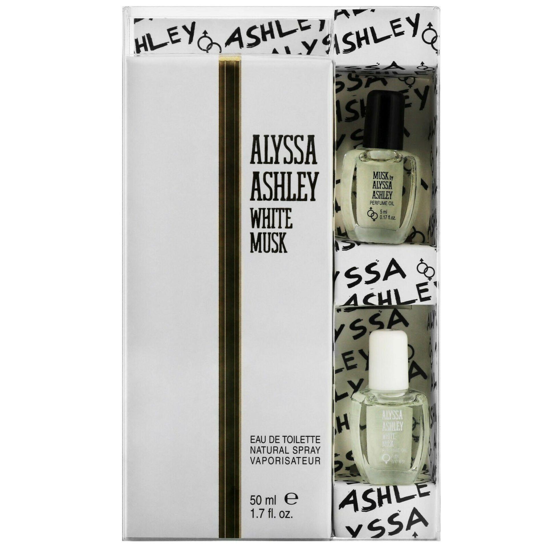 + VAT Brand New Alyssa White Musk 50ml EDT Spray + 2x5ml Oils
