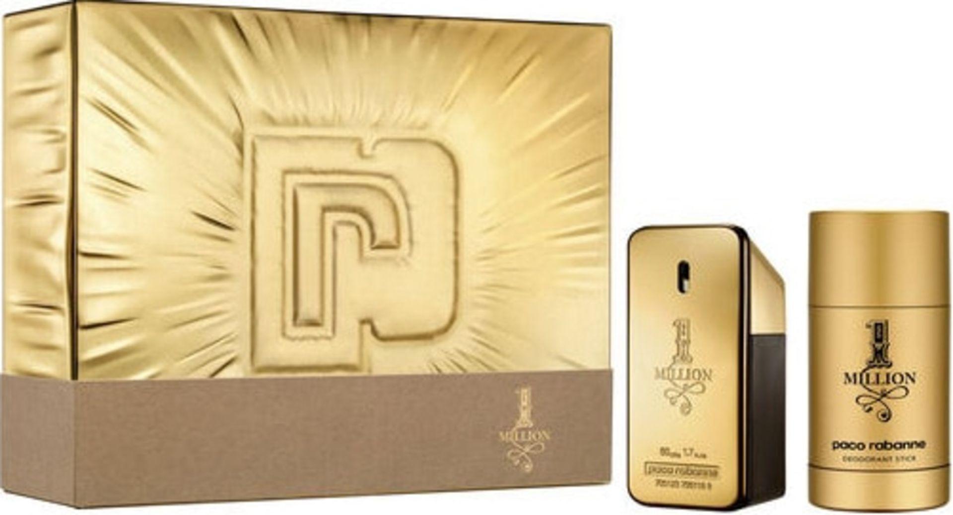 + VAT Brand New Paco Rabanne One Million 50ml EDT +75ml Deo. stick