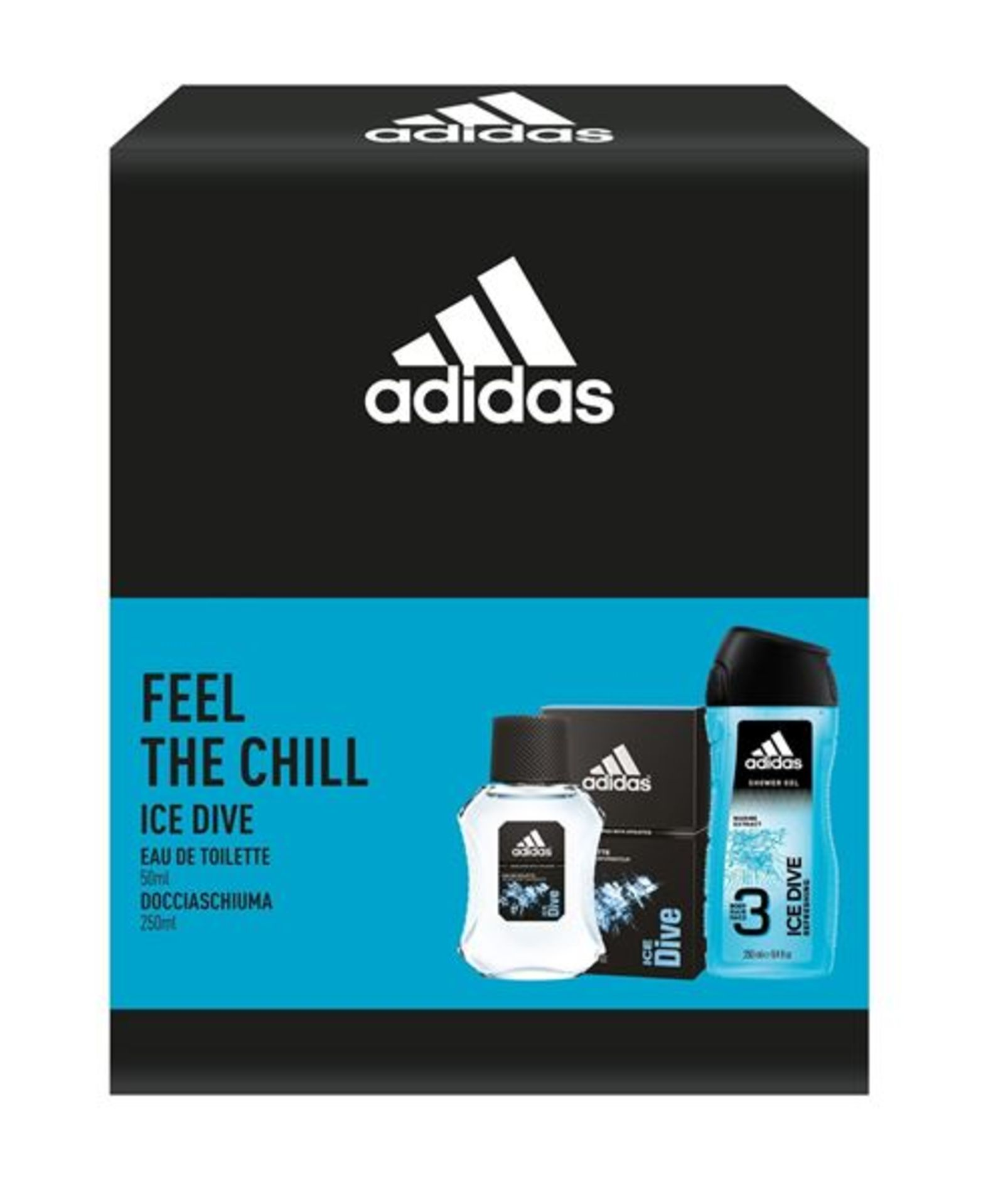 + VAT Brand New Adidas Ice Dive 50ml EDT+250ml Shower Gel