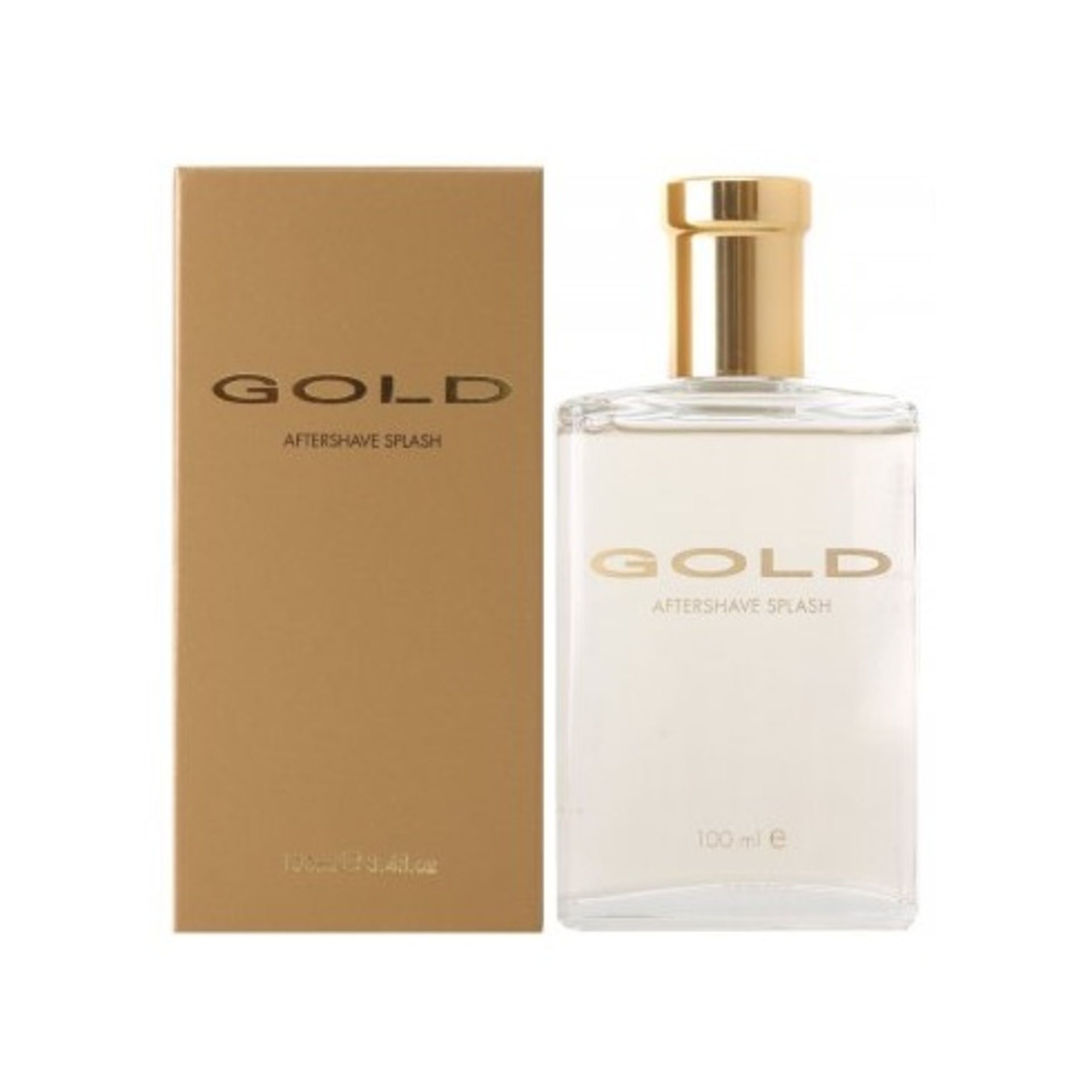 + VAT Brand New Mass Market Gold 100ml Aftershave