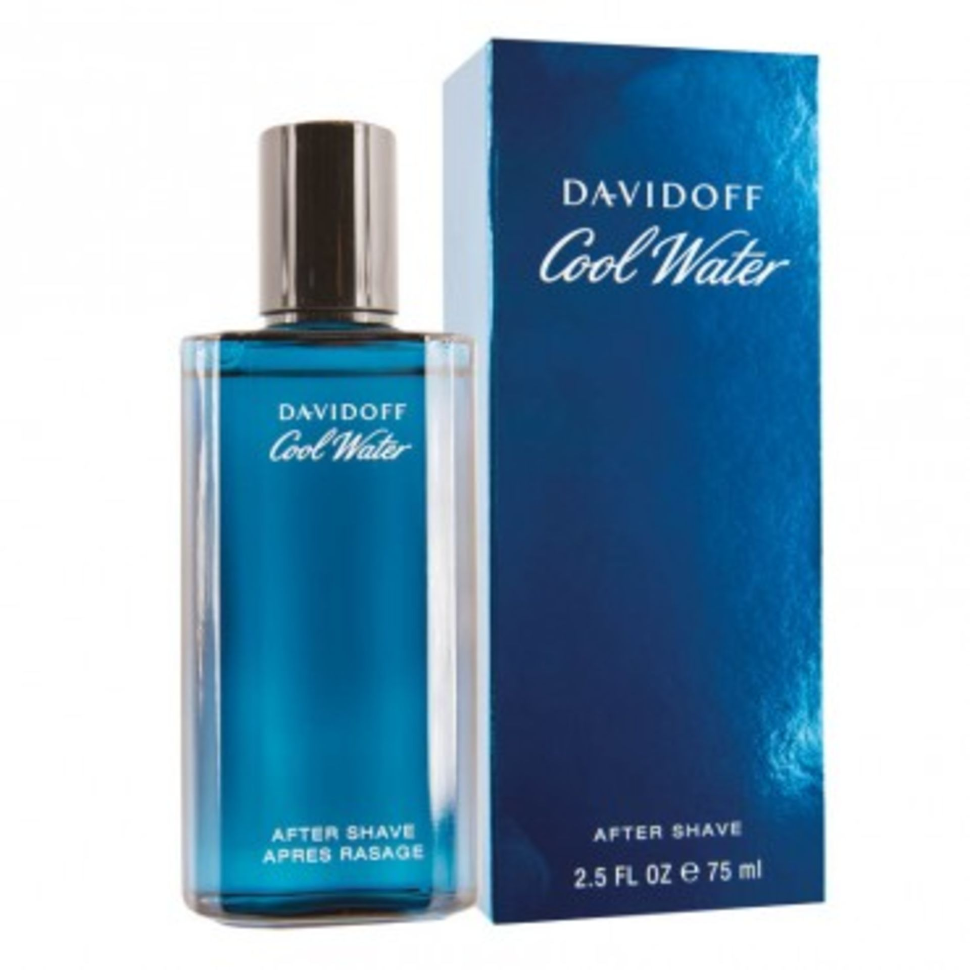 + VAT Brand New Davidoff Cool Water 75 ml Aftershave RRP £41.95