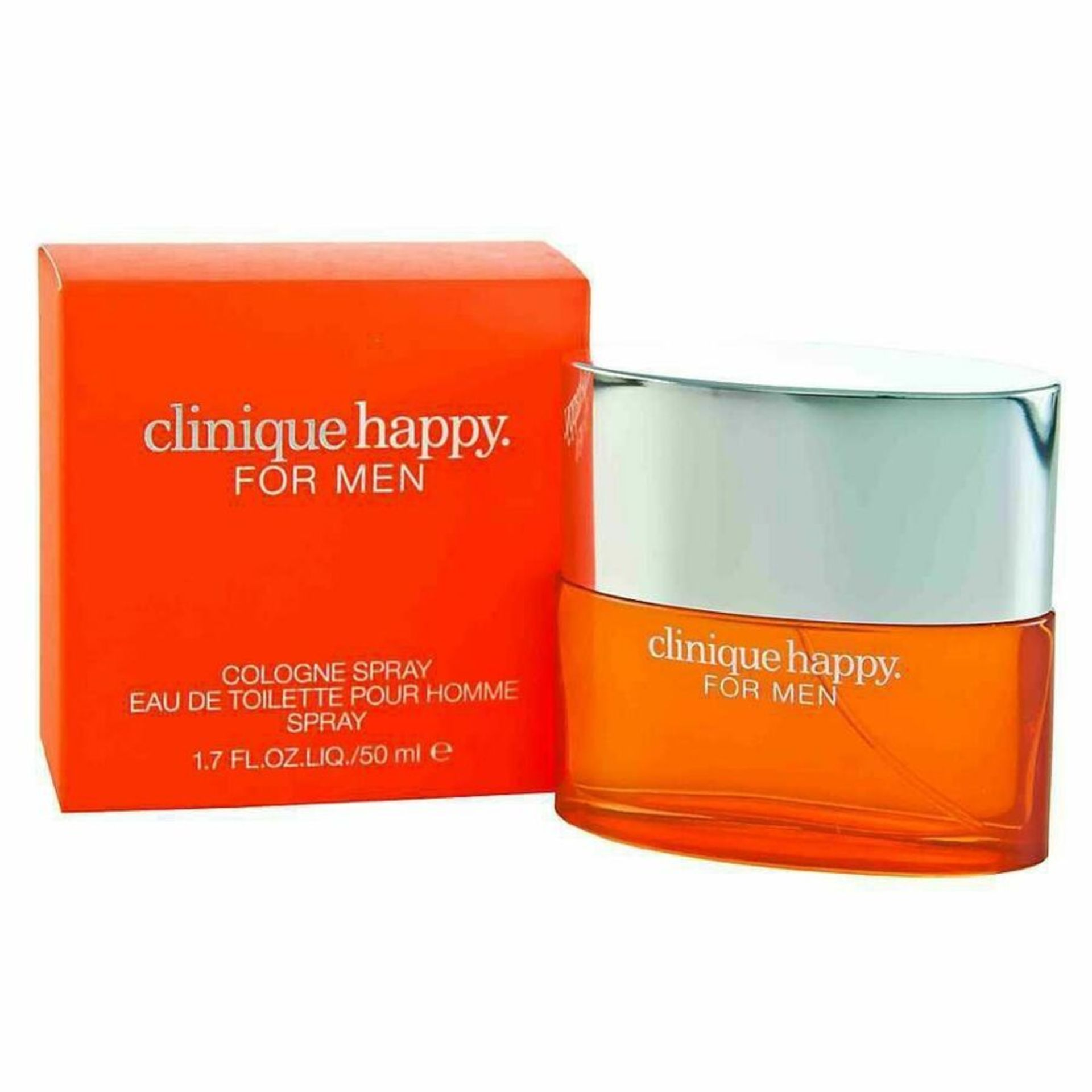 + VAT Brand New Clinique Happy Mens 50ml Cologne Spray