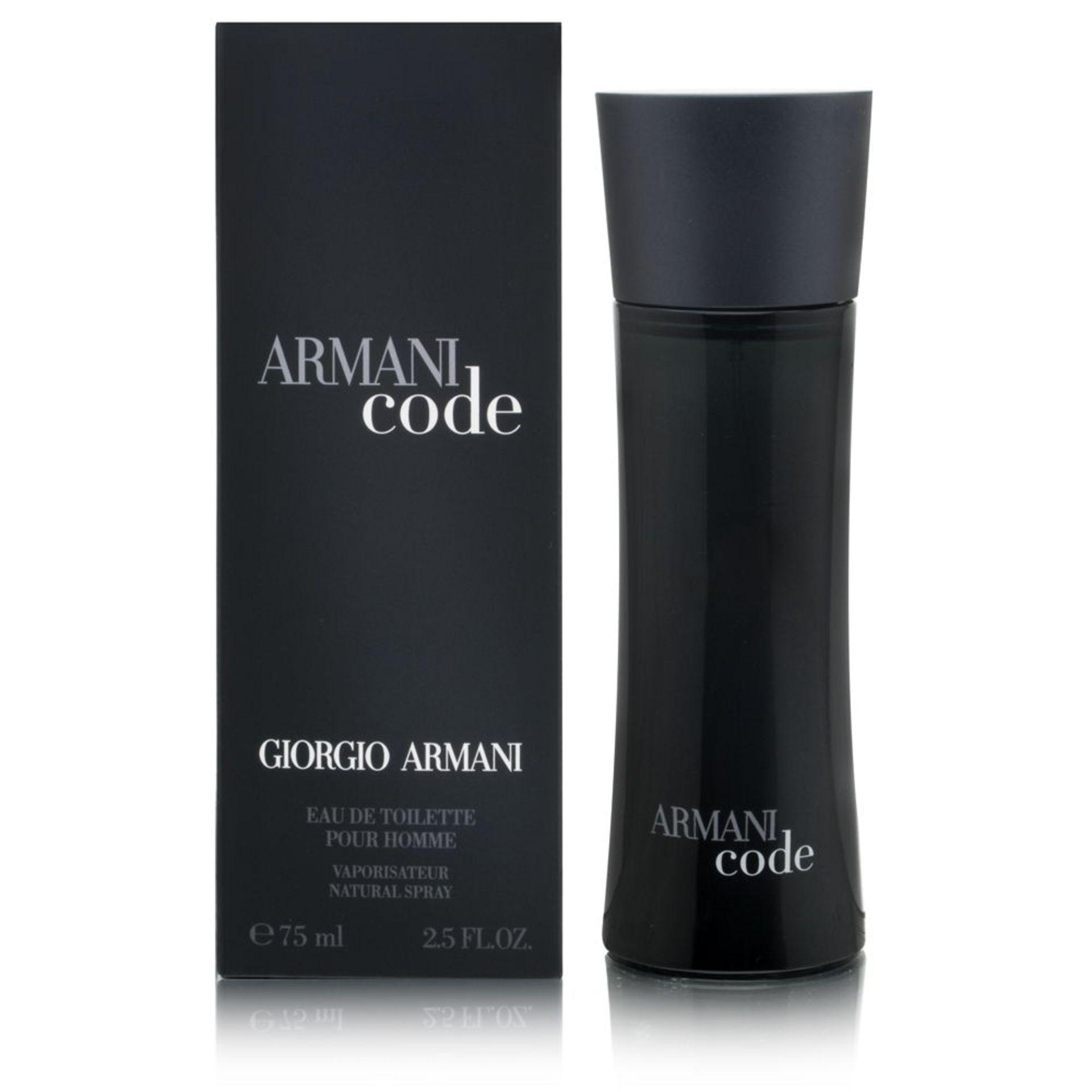 + VAT Brand New Giorgio Armani Code (M) 75ml EDT Spray