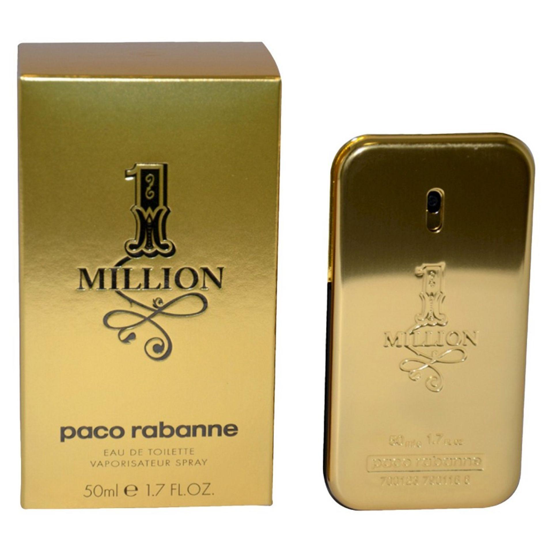 + VAT Brand New Paco Rabanne One Million 50ml EDT Spray
