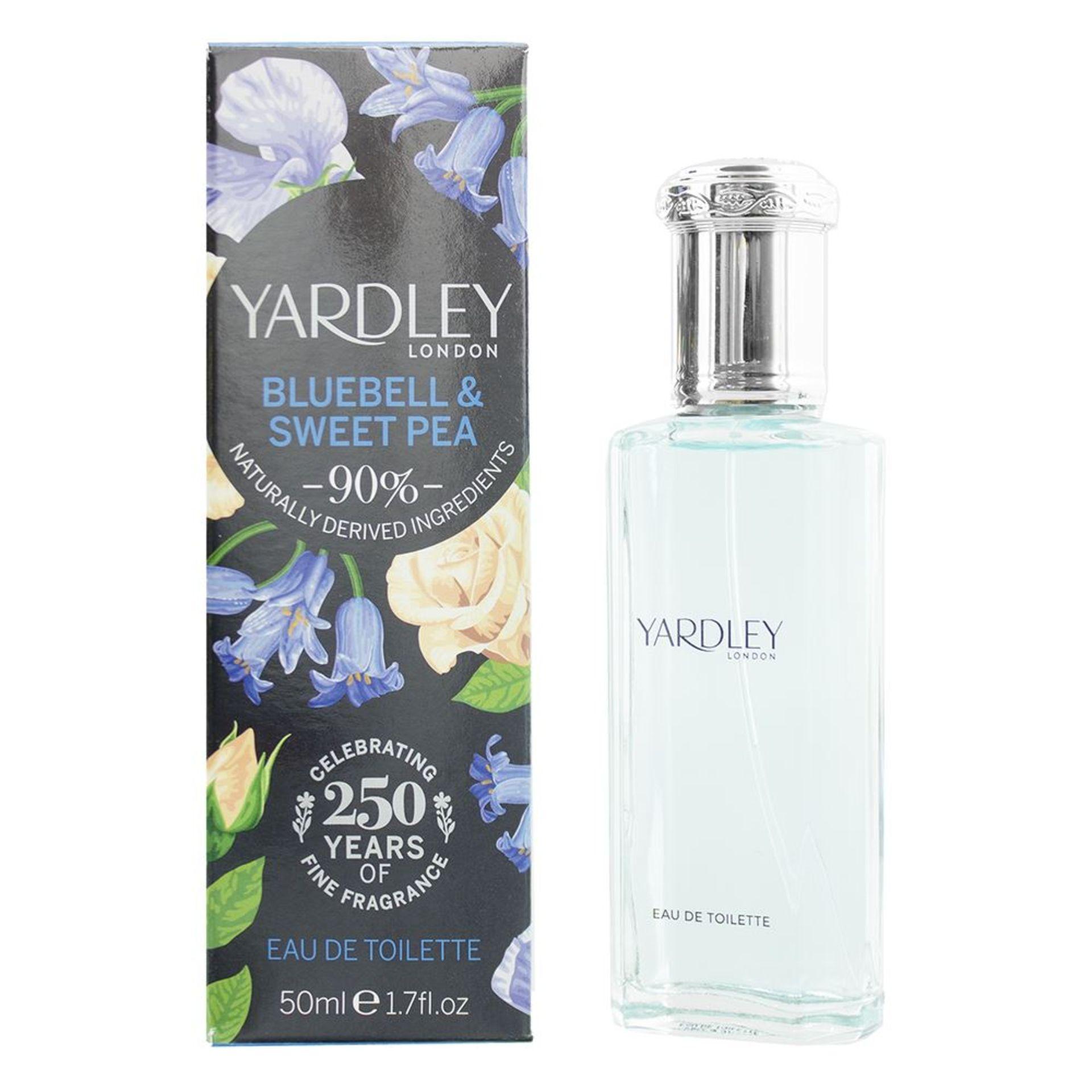+ VAT Brand New Yardley English Bluebell&Sweet Pea 50ml EDT Spray
