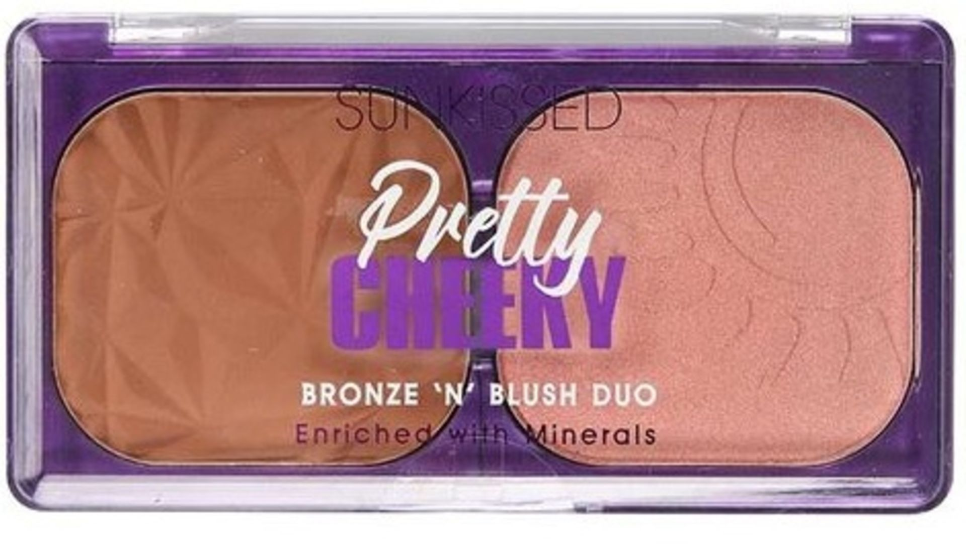 + VAT Brand New Sunkissed Pretty Cheeky Bronz. & Highl.Duo10g