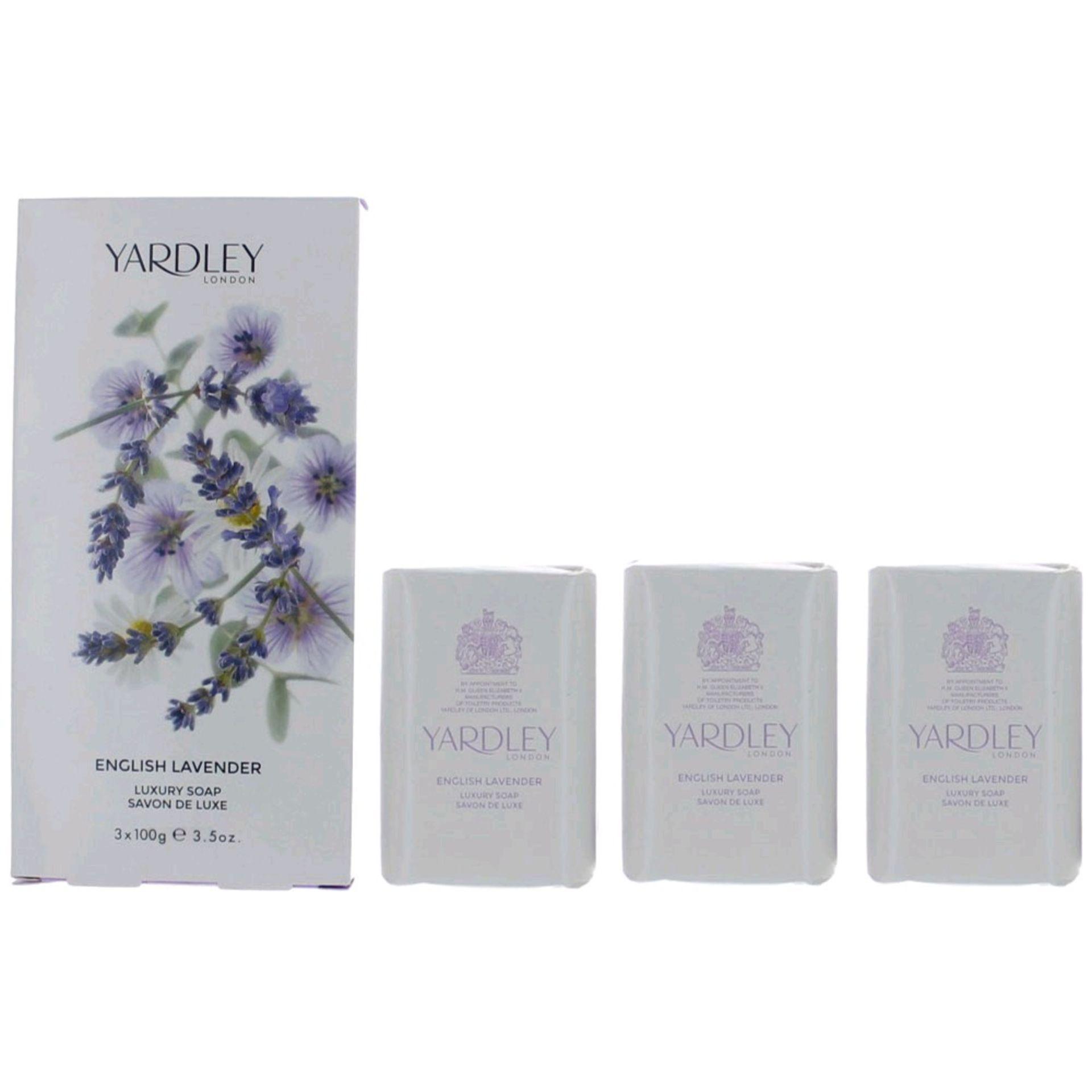 + VAT Brand New Yardley English Lavender Soap 100G X 3