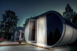 + VAT Brand New Superb Extra Large Sauna Extended Barrel 2.4m x 4.3m - Separate Sitting/Changing