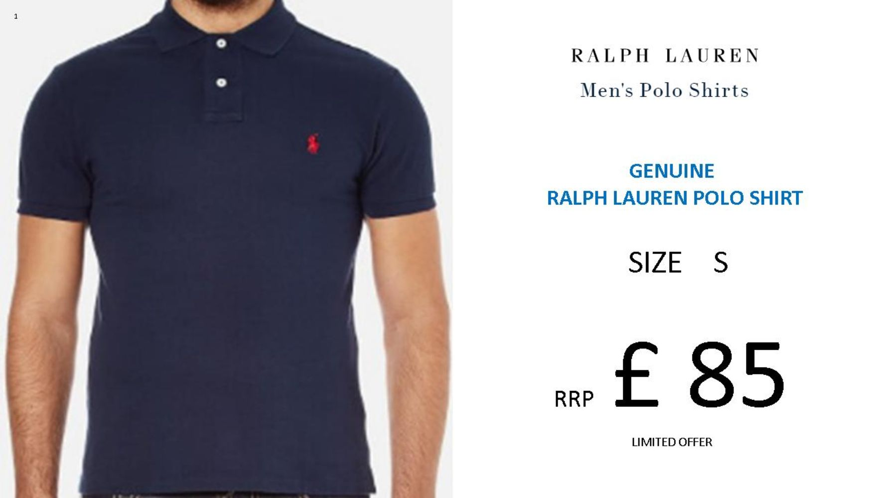 Polo By Ralph Lauren Brand New Iconic Custom Fit Men's Polo Shirts in a Range of Sizes & Colours - Summer Style, Sorted