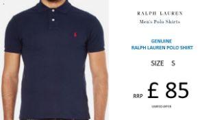 + VAT Brand New Ralph Lauren Custom-Fit Small Pony Polo Shirt - Newport Navy - Size S - Ribbed Polo