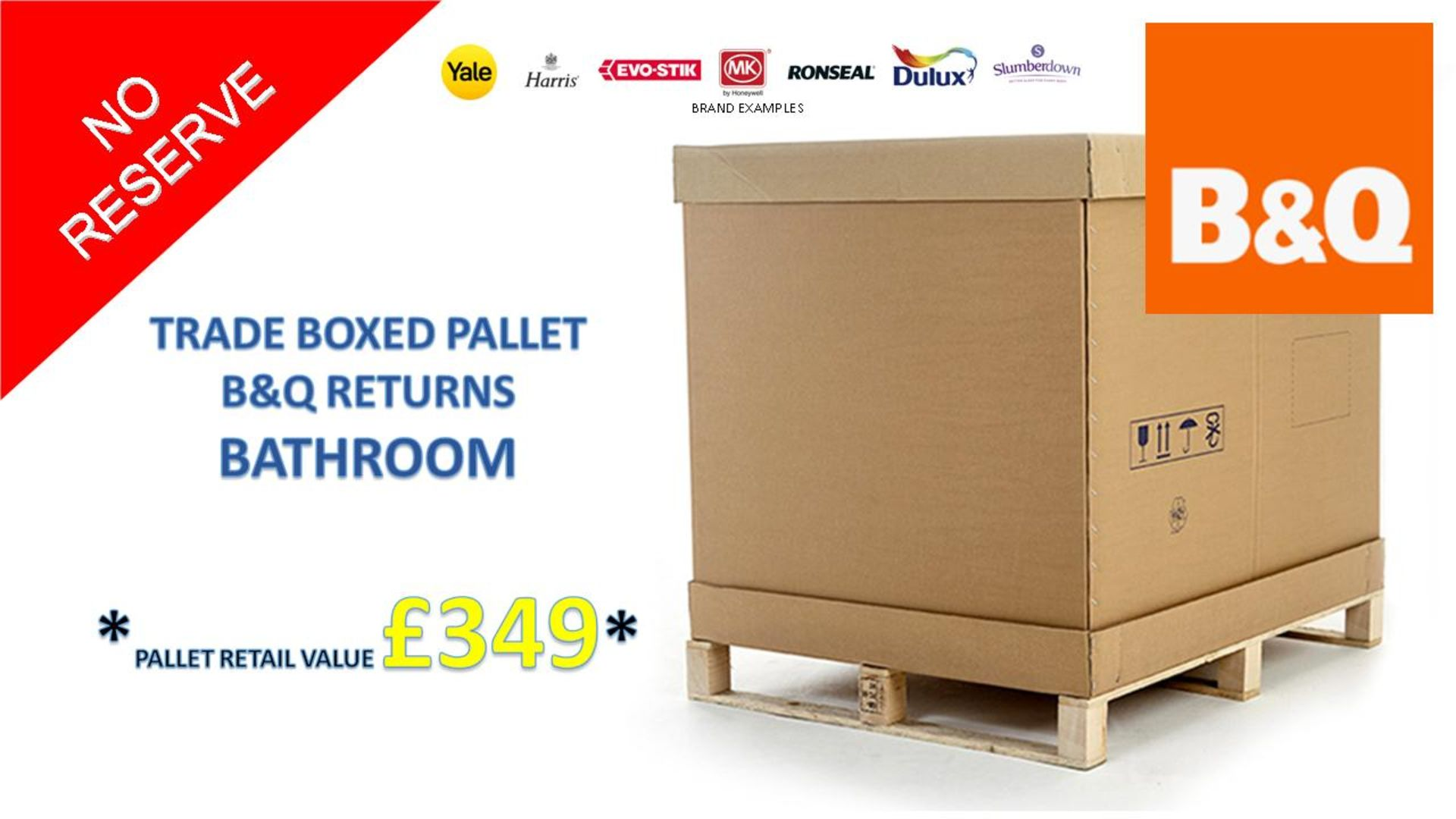 + VAT Grade U Trade Pallet Quantites Of B & Q Returns - Bathroom - Retail Value £349.84 ***No