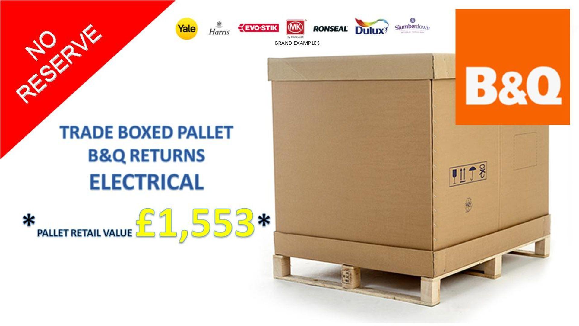 + VAT Grade U Trade Pallet Quantites Of B & Q Returns - Electrical - Retail Value £1553.68 ***No