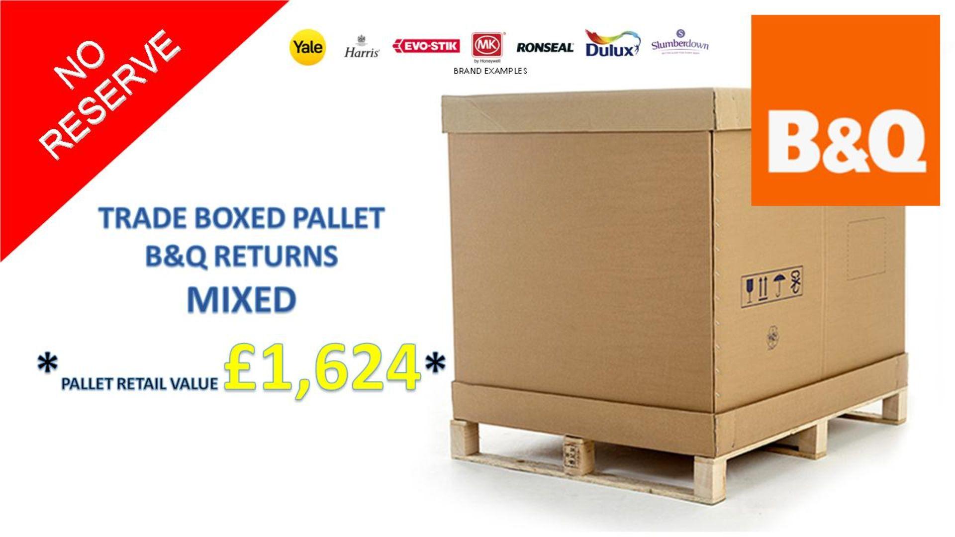 + VAT Grade U Trade Pallet Quantites Of B & Q Returns - Mixed - Retail Value £1624.52 ***No