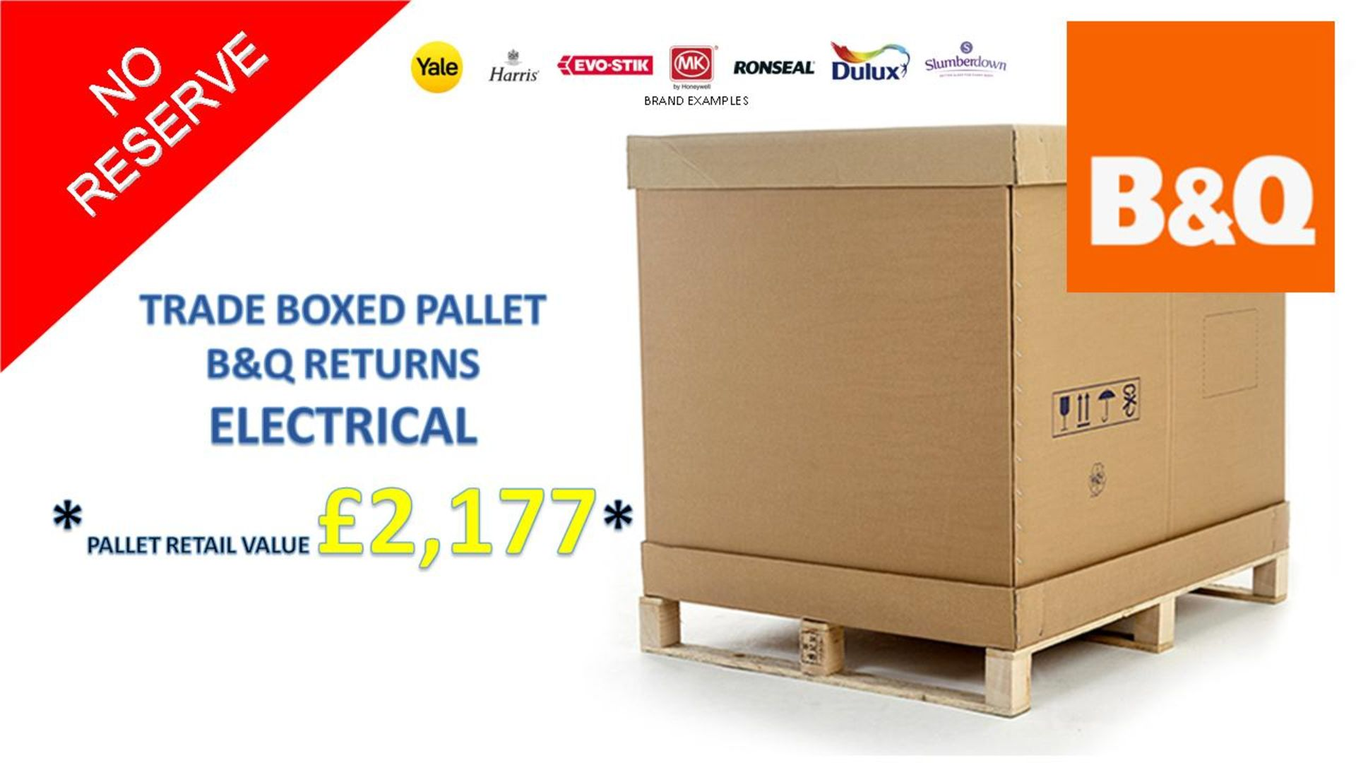 + VAT Grade U Trade Pallet Quantites Of B & Q Returns - Electrical - Retail Value £2177.38 ***No