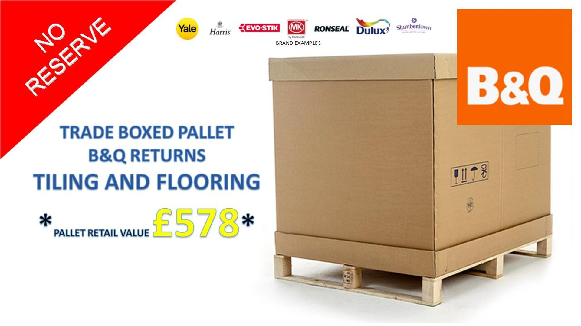 + VAT Grade U Trade Pallet Quantites Of B & Q Returns - Tiling & Flooring - Retail Value £578.6 ***