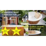 + VAT Brand New Fantastic Super Luxury 1.8m Hot Tub With Spruce Finishing - Complete Fiberglass