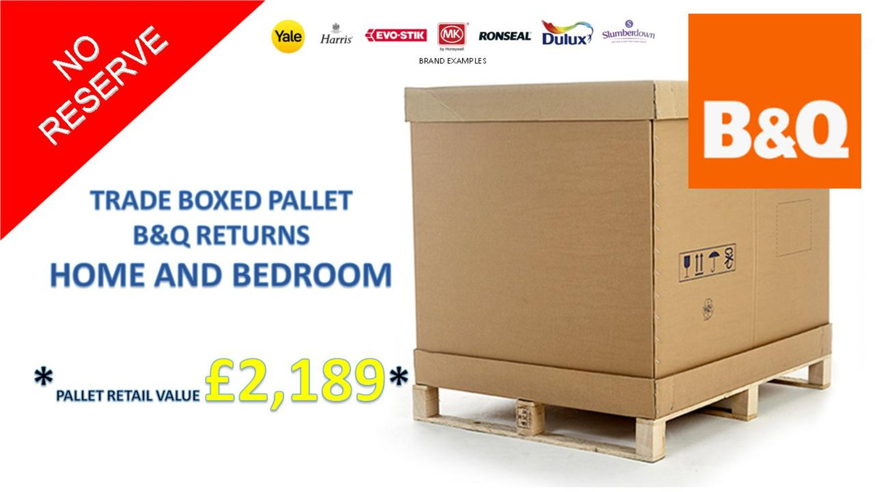 Trade Pallet Sale of B&Q Returns - No reserve - Huge Range of Stock Direct from the Retailer