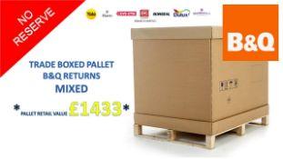 + VAT Grade U Trade Pallet Quantites Of B & Q Returns - Mixed - Retail Value £1433.10 ***No