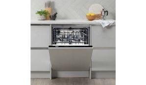 + VAT Grade A/B Bush DW12LSINT Full Size Intergrated Dishwasher - Four Programmes - 50 Minute Quick