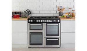+ VAT Grade A/B Bush BRC100DHMSS 100cm Duel Fuel Range Cooker - Four Ovens With 178 Litres Total
