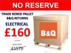 + VAT Grade U Trade Pallet Quantites Of B & Q Returns - Electrical - Retail Value £1579.62 ***No