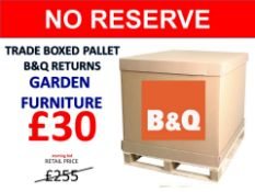 + VAT Grade U Trade Pallet Quantites Of B & Q Returns - Garden Furniture - Retail Value £255.54 ***