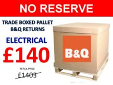 + VAT Grade U Trade Pallet Quantites Of B & Q Returns - Electrical - Retail Value £1403.70 ***No