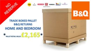 + VAT Grade U Trade Pallet Quantites Of B & Q Returns - Home & Bedroom - Retail Value £2165.56 ***