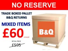 + VAT Grade U Trade Pallet Quantites Of B & Q Returns - Mixed - Retail Value £595.20 ***No