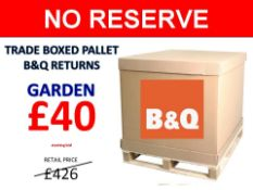 + VAT Grade U Trade Pallet Quantites Of B & Q Returns - Garden - Retail Value £426.86 ***No
