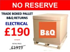 + VAT Grade U Trade Pallet Quantites Of B & Q Returns - Electrical - Retail Value £1919.86 ***No