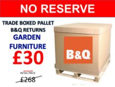 + VAT Grade U Trade Pallet Quantites Of B & Q Returns - Garden Furniture - Retail Value £268.96 ***