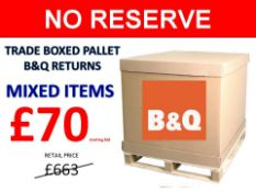 + VAT Grade U Trade Pallet Quantites Of B & Q Returns - Mixed - Retail Value £663.60 ***No
