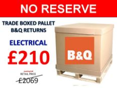 + VAT Grade U Trade Pallet Quantites Of B & Q Returns - Electrical - Retail Value £2069.68 ***No