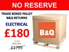 + VAT Grade U Trade Pallet Quantites Of B & Q Returns - Electrical - Retail Value £1799.98 ***No